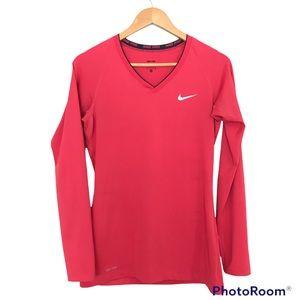 Nike Pro Long Sleeve Top Dri-Fit V-Neck